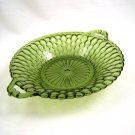 Indiana Honeycomb Round Relish Dish Olive Green