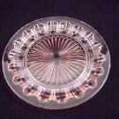 Hocking Depression Glass Colonial Knife & Fork Pink Dinner Plate