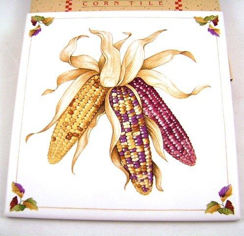 Avon Harvest Bounty Ceramic Tile for Autumn Corn