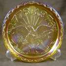 Indiana Glass Bicentennial American Eagle Gold Carnival Plate