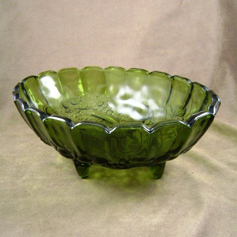 Indiana Garland #301 Banana Fruit Green Oval Footed Bowl