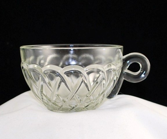 Indiana Glass Pretzel Vintage Crystal Clear Coffee Tea Cup