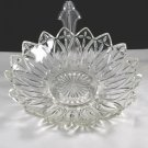 Vintage Indiana Glass Petal Large Crystal Bowl