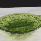Vintage Indiana Glass Green Killarney Open Handled Divided Relish Dish
