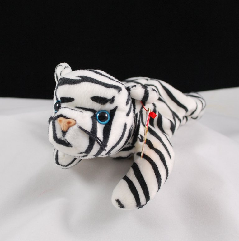 Retired Ty Blizzard The White Tiger Beanie Baby 4163