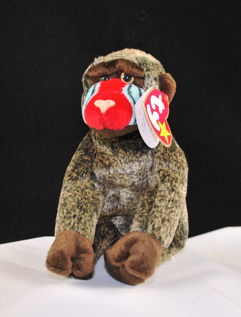 Ty Cheeks The Baboon Retired Beanie Baby 4250