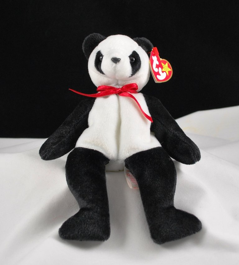 Retired Fortune The Panda Bear Ty Beanie Baby 4196