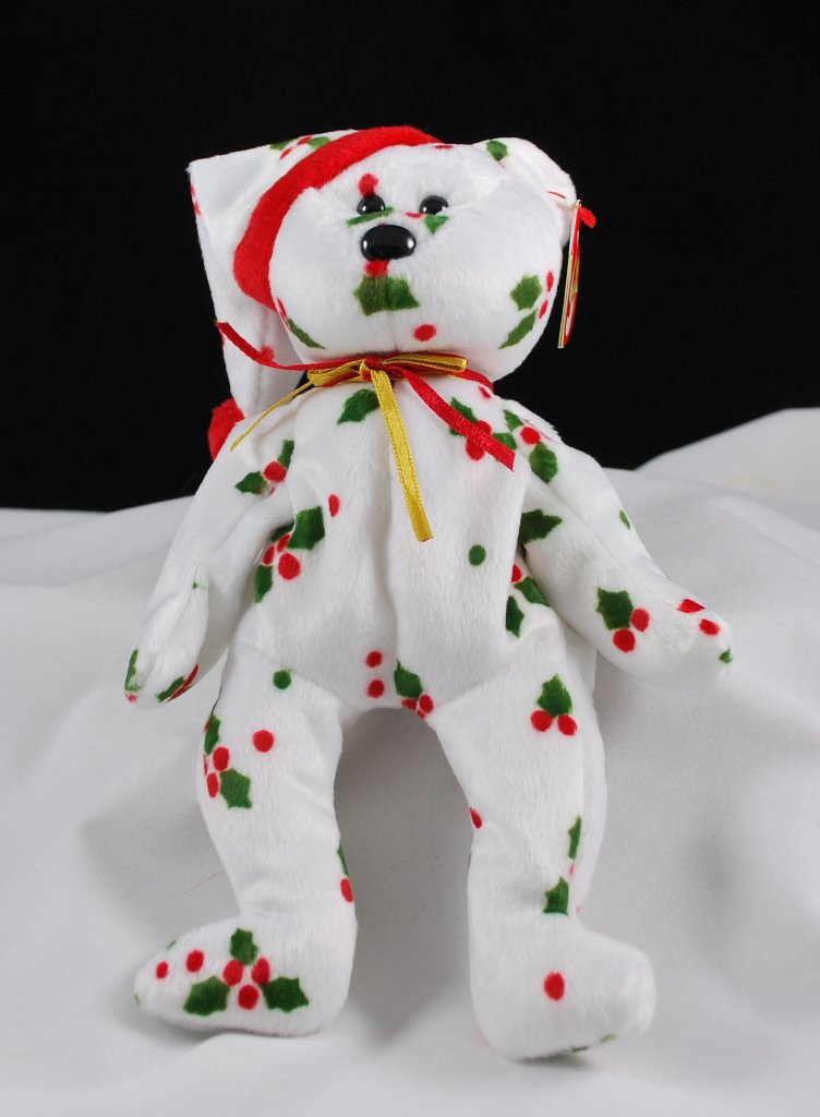43c0add9787 Retired Ty 1998 Holiday Teddy Bear Beanie Baby 4204