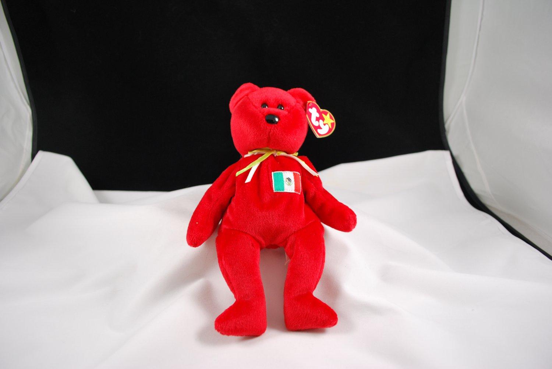 Retired Ty Osito Mexico Teddy Bear Beanie Baby 4244