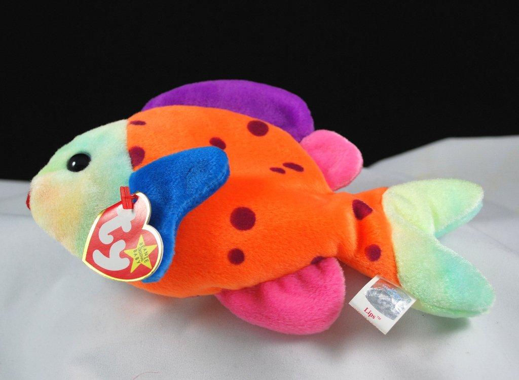 Ty Lips The Fish Retired Beanie Baby 4254