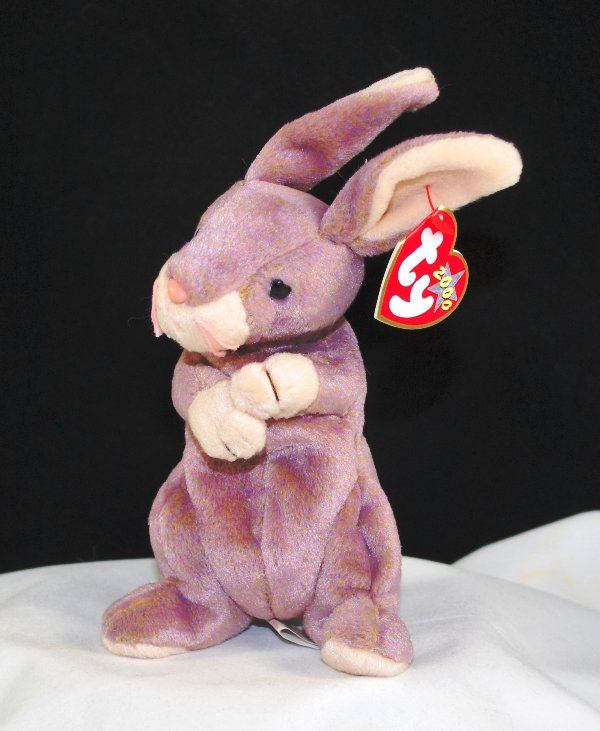 Ty Springy The Lavender Bunny Retired Beanie Baby 4272