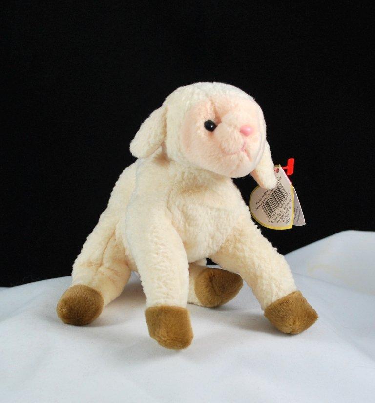 Ty Beanie Baby Ewey The Lamb Retired 4219