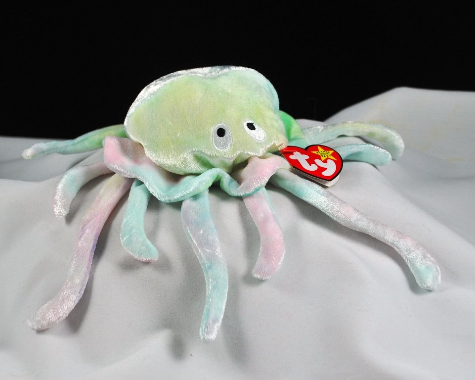 Ty Beanie Baby Goochy The Ty-Dye Jellyfish Retired 4230