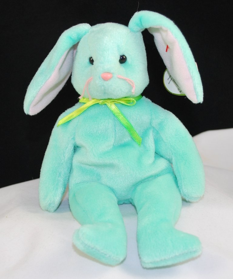 Retired Ty Beanie Baby Hippity The Mint Bunny 4119