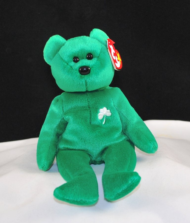 Retired Ty Beanie Baby Erin The Irish Bear 4186 d41bb6ab45fa