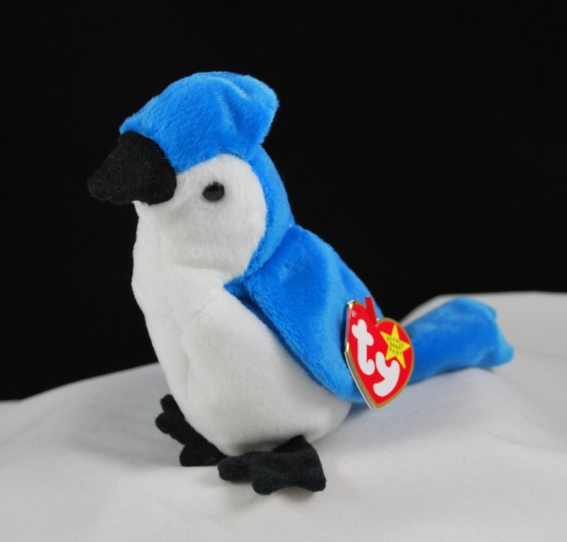 Retired Ty Beanie Baby Rocket The Blue Jay Bird 4202