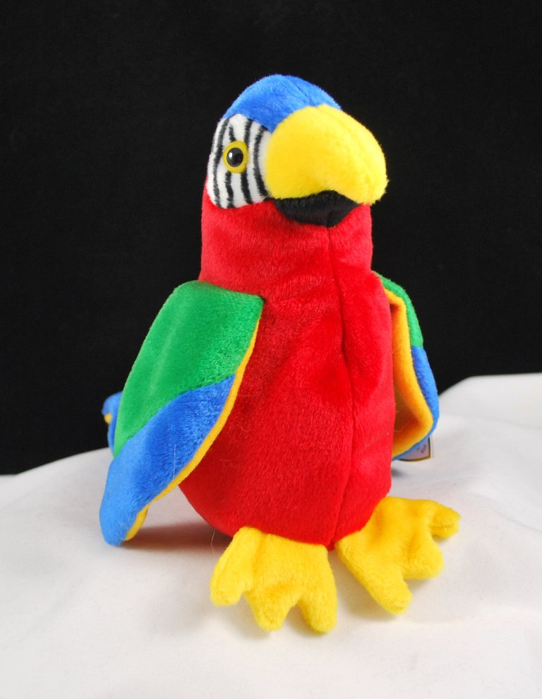 daadcab925d Retired Ty Beanie Baby Jabber The Parrot 4197