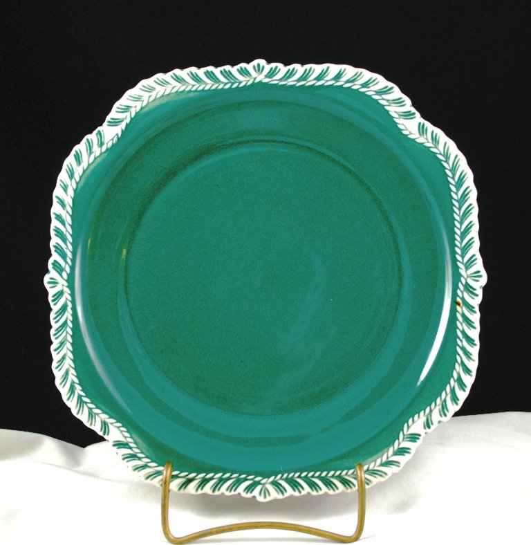 Harker Teal Pate sur Pate Square Snack Sandwich Plate