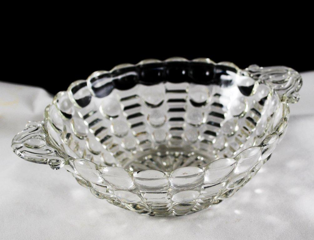 Anchor Hocking Dots & Bars Crystal Clear Bowl
