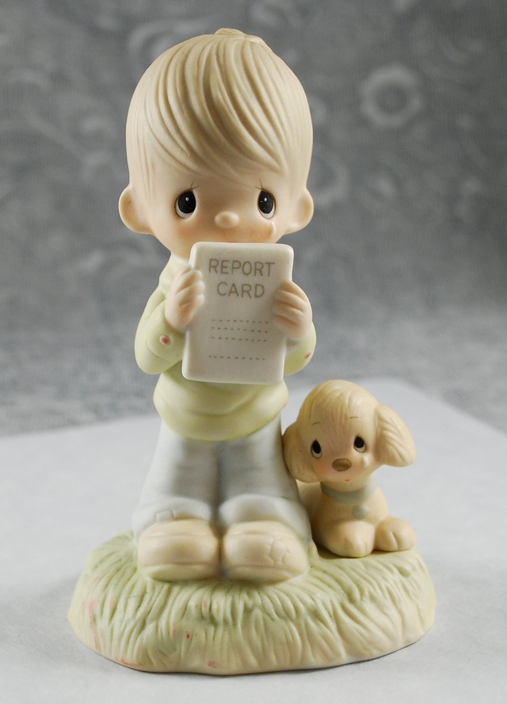 Precious Moments God Understands Boy Report Card Figurine E-1379B