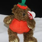 Peter Ty Attic Treasures 1998 Pumpkin Brown Bear Style 6084