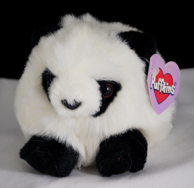 Swibco Puffkins Peter the Panda Plush Bean Bag Style 6604