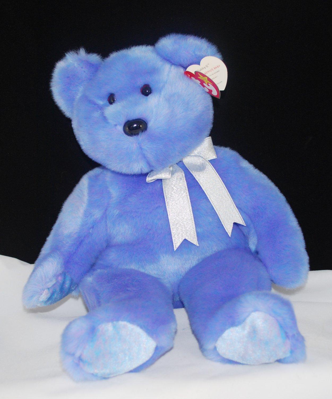 Ty Clubby II Beanie Buddy Soft Plush Blue Bear Style 9991