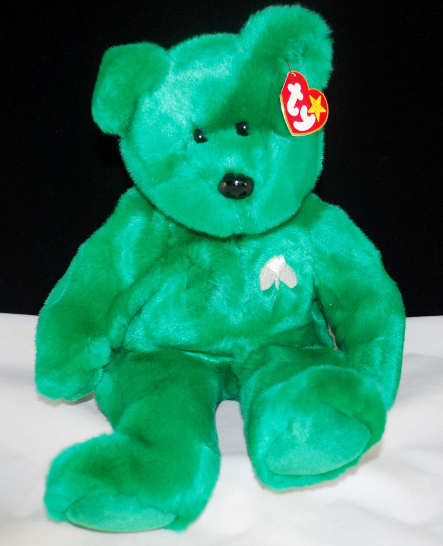 Erin Beanie Buddy Green Ty Plush Bear Style 9309
