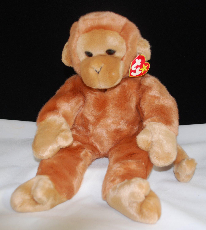 Ty Warner Bongo the Monkey Beanie Buddy Style 9312