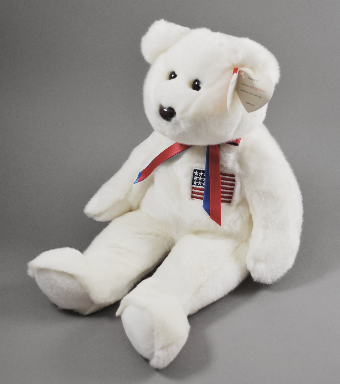 Libearty the Bear Ty Beanie Buddy Plush Style 9371 ed996678bf3a