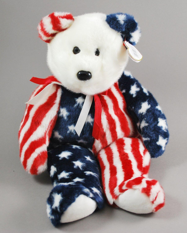 Spangle the Bear Ty Beanie Buddy Plush Style 9336 15f8afca6437
