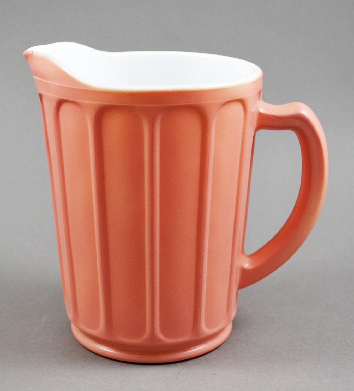Hazel Atlas Pink Platonite Milk Pitcher