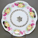 Vintage White Porcelain Rose Floral German Collector Plate