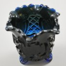 Vintage Croesus Navy Blue Glass Toothpick Holder