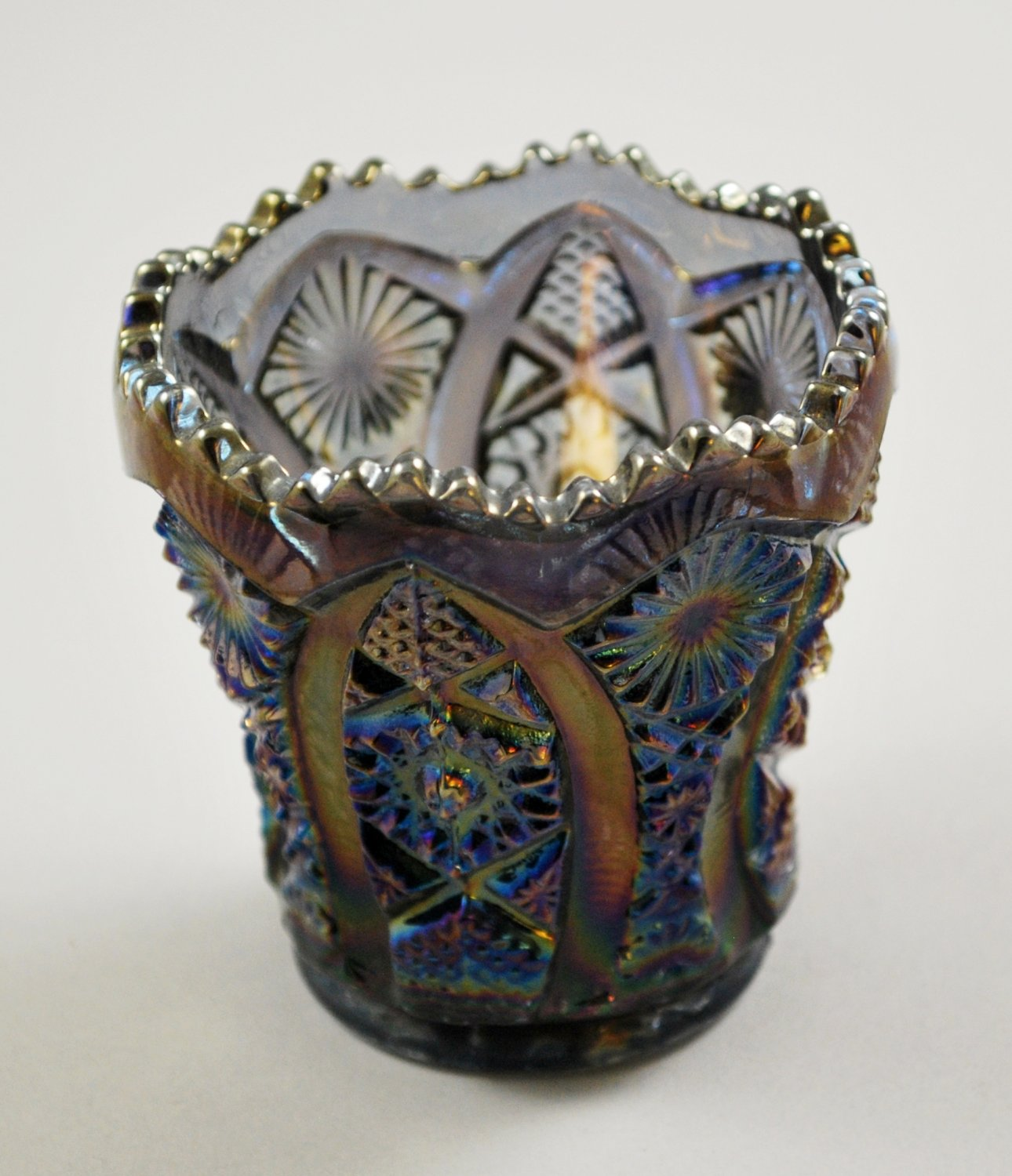 Imperial Octagon Smoke Carnival Toothpick Holder