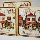 Set of 3 Avon Hospitality Sweets Recipes Metal Plates 1982