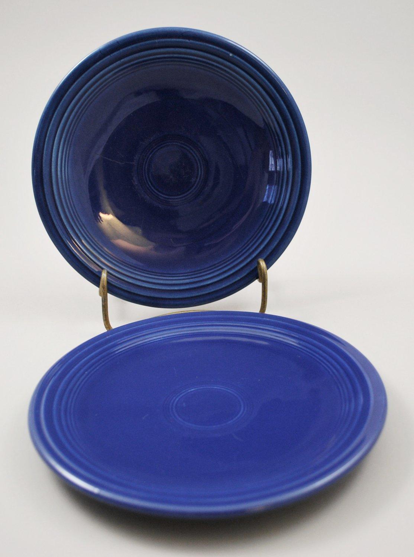 Set of 2 Homer Laughlin Fiesta Cobalt Blue Bread Butter Plate