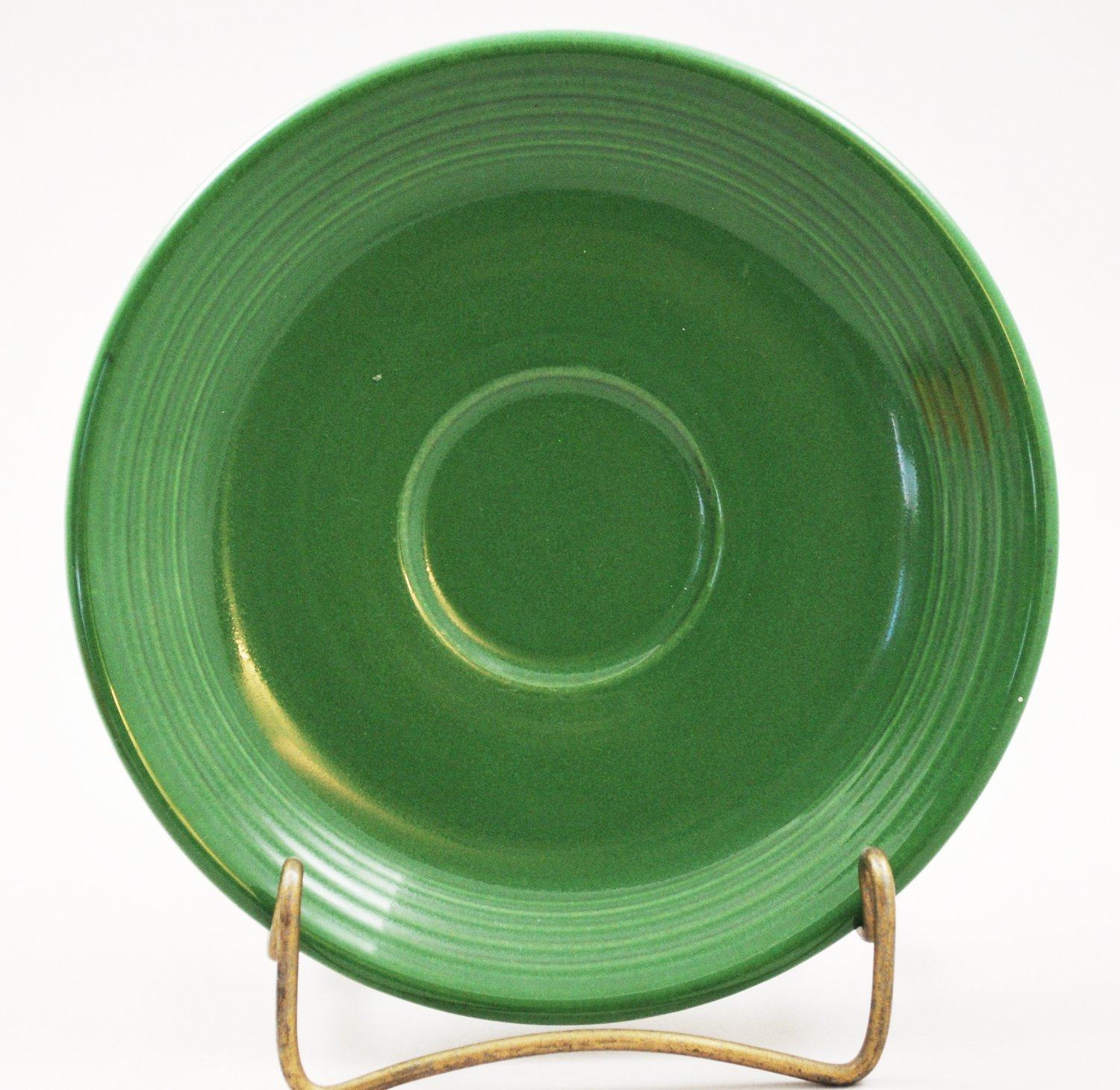 Vintage Forest Green Fiestaware Homer Laughlin Saucer