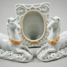 Set of 2 Avon 1981 Tapestry Porcelain Unicorn Pomanders and Picture Frame