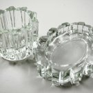 Avon 1981 Ultra Crystal Glass Candle Holder and Soap Dish