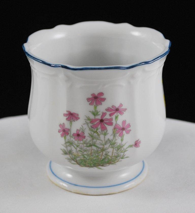 Vintage Porcelain Takahashi San Francisco Floral Jar Vase Open Sugar