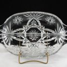 Vintage Anchor Hocking Early American Prescut Clear Divided Relish Dish