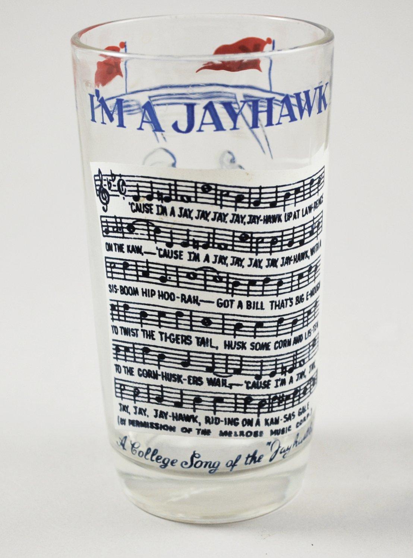 Vintage Kansas I'm A Jayhawk Collegiate Tumbler with Song Football Design
