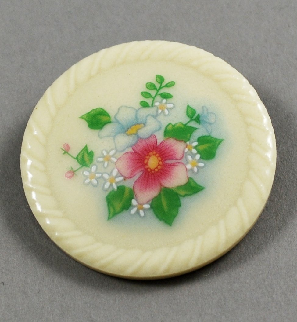 1984 Avon Spring Bouquet Porcelain Brooch or Pin