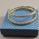 Set of Avon Jewelry 1979 Classic Twist Bangle Bracelets Goldtone & Silvertone