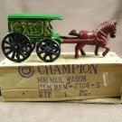 Champion Cast Iron Toy Mini Mail Horse Drawn Wagon #128