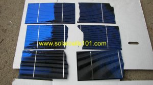 Solar Cells Set of  75  3 x 6  potential halfs For Making Solar Panels