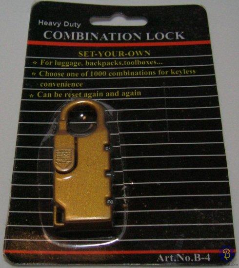 Combination Lock (Gold)