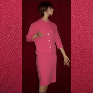 Kitten Soft 60's Vintage 3 PC Coral Wool & Kid Mohair Suit