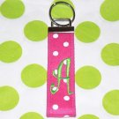 Pink Polka Dotted Keychain